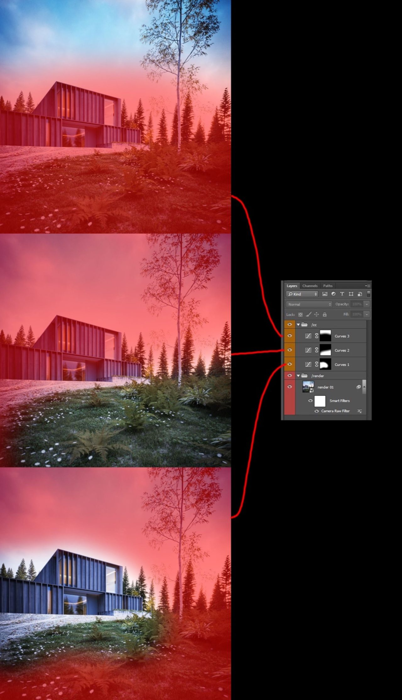 Carey House tutorial 09 - Post Production
